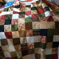Handmade to order patchwork throw
