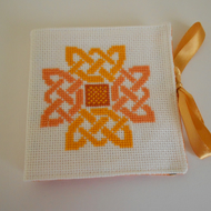 Sewing Needle Case, Celtic Knot Cross Stitch