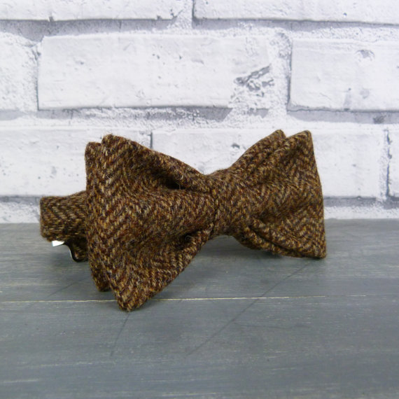 Yorkshire Tweed Bow Tie - Brown Herringbone