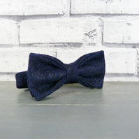 Yorkshire Tweed Bow Tie - Navy Twill