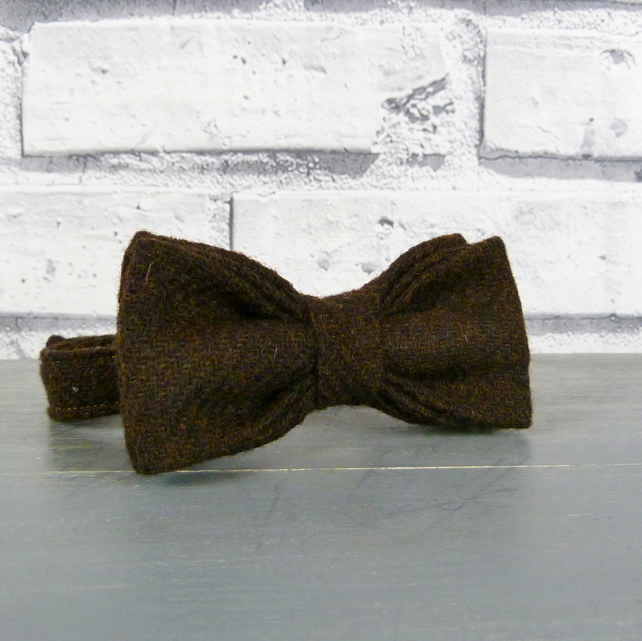 Boys Bow Tie - Brown Yorkshire Twill Tweed