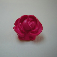 De-stash - deep pink ROSE buttons