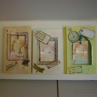 Clearout - 3 shadow box gift cards with earrings