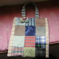 Book bag tote with brooch