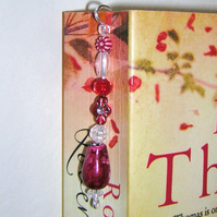 Beaded Bookmark red and white