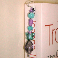 Beaded Bookmark Turquoise and violet