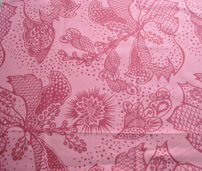 Intricate bali print fabric FQ cotton.