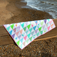 Patchwork baby quilt in fresh colours - perfect for a baby shower or christening