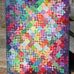 Stunning abstract throw or wallhanging - Secret Garden - unique patchwork quilt