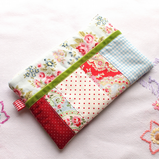 Make-up bag - Pencil Case - 'Rose Garden' - Cath Kidston fabric - FREE UK P&P