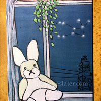 Lepus -Hare Constellation Greeting Card