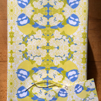 Blue Tit Gift Wrap & Tag