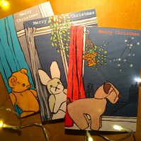 Pack of 3 Christmas Constellation Cards