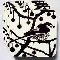 B & W Longtail Coasters - Pk of 4