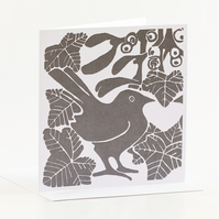 Grey Mistletoe & Ivy Cards Pk of 5
