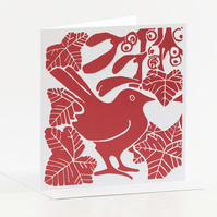 Red Mistletoe & Ivy Cards - Pk of 5