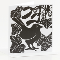 Blackbird Mistletoe & Ivy Cards Pk of 5