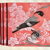 Bullfinch & Blossom Card