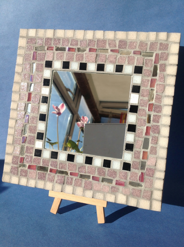 Small Lilac Mosaic Mirror