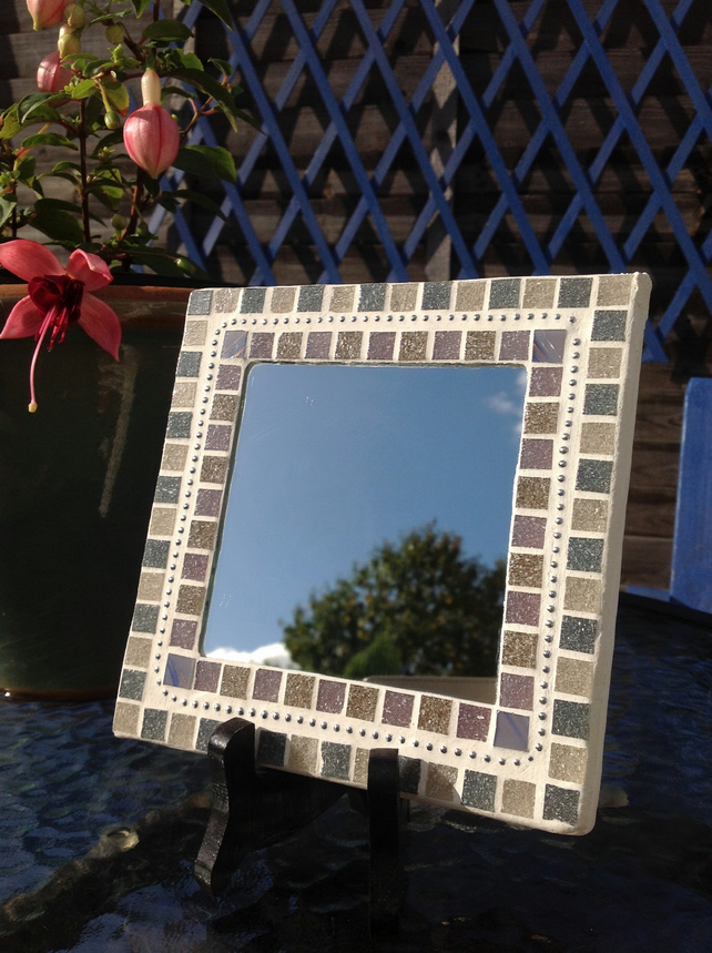 Small Square Mosaic Mirror -Lilac Chain 2