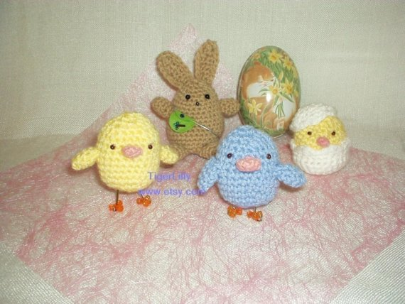 Easter Amigurumi Crochet Pattern Rabbit And Ch Folksy