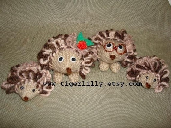 Hedgehog Knitting Pattern Toys Mummy Daddy Am Folksy