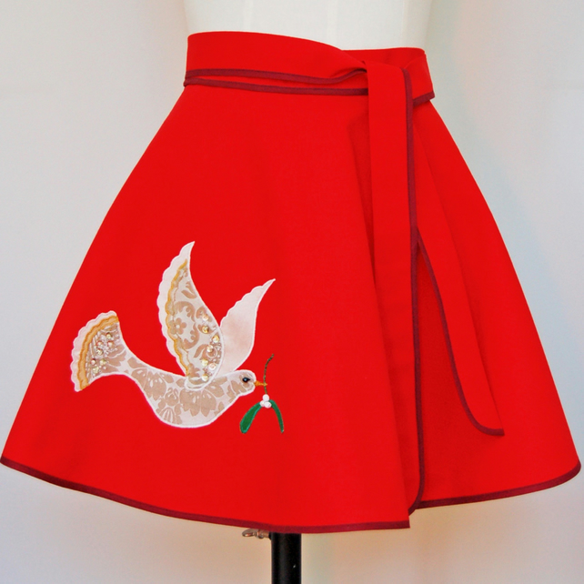 Christmas Dove Apron