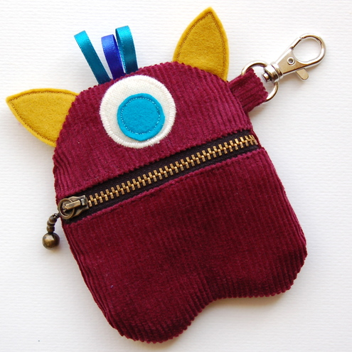 Maroon Monster Purse