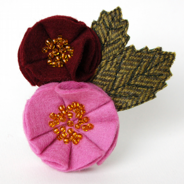 Rose Brooch in Pink