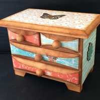 4 Drawer Jewellery Chest