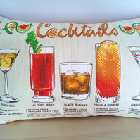 Rectangular Cocktails Cushion Cover