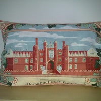 Tea Towel Cushion Cover featuring Hampton Court Palace