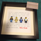 LEGO - FRAMED A-TEAM FIGURES - CUSTOMISED AND SUPERB