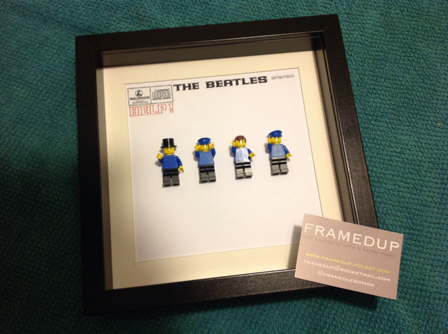 Beatles Custom Lego Framed Figures Album Cover Folksy
