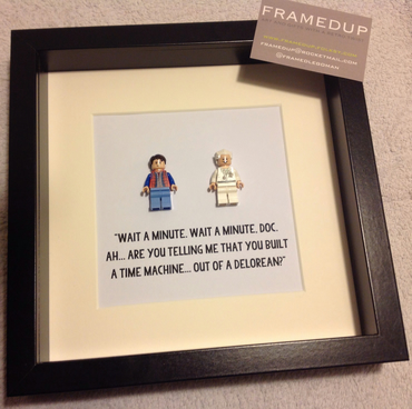 BACK TO THE FUTURE - FRAMED LEGO FIGURES - UNIQUE ART WORK