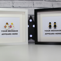 SAME SEX MARRIAGE - FRAMED CUSTOM LEGO MINIFIGURES - ULTIMATE WEDDING GIFT