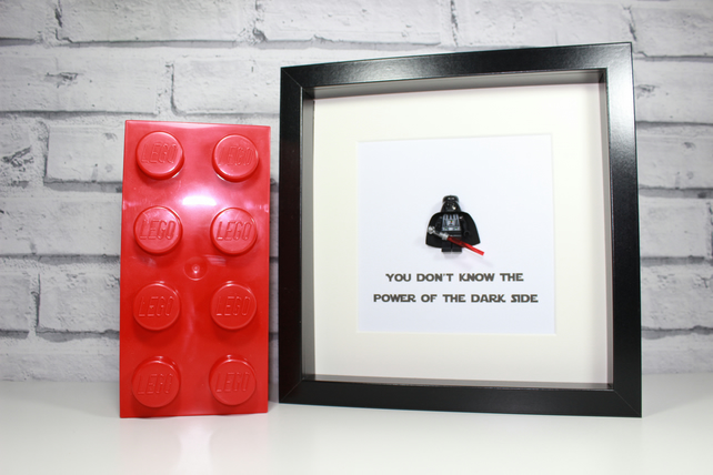 LEGO STAR WARS - DARTH VADER - FRAMED FIGURE