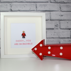 MR INCREDIBLE - FATHERS DAY SPECIAL - FRAMED LEGO MINIFIGURE
