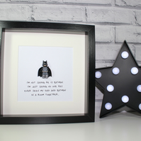 BATMAN - FATHERS DAY SPECIAL - FRAMED MINIFIGURE - DAD OR DADDY