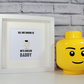 THE STIG - TOP GEAR - FATHERS DAY SPECIAL - FRAMED CUSTOM LEGO MINIFIGURE
