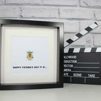 YODA - STAR WARS - FATHERS DAY SPECIAL - FRAMED LEGO MINIFIGURE
