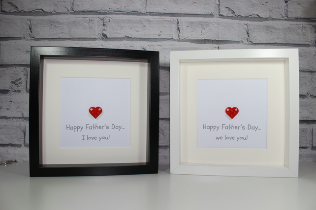 FATHER'S DAY - FRAMED HEART MADE USING LEGO - DAD OR DADDY