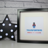 TRANSFORMERS - OPTIMUS PRIME - FRAMED CUSTOM MINIFIGURE