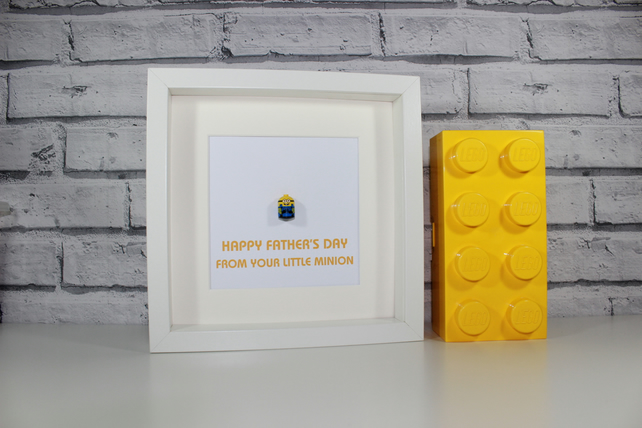 MINION - FATHERS DAY SPECIAL - FRAMED CUSTOM LEGO MINIFIGURE