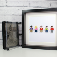 THE BIG BANG THEORY - FRAMED LEGO MINIFIGURES - AWESOME ART