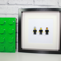 FATHER TED TRIO -THE CRAGGY ISLAND CREW - FRAMED LEGO TED, JACK, DOUGAL