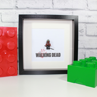 THE WALKING DEAD - MICHONNE - FRAMED CUSTOM LEGO MINIFIGURE