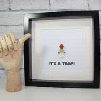 ADMIRAL ACKBAR - FRAMED LEGO MINIFIGURE - ITS A TRAP
