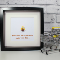 SPONGEBOB SQUAREPANTS - FRAMED LEGO MINIFIGURE - QUIRKY ART WORK