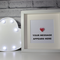VALENTINE'S DAY - LEGO HEART - PERSONALISED FRAME - QUIRKY GIFT